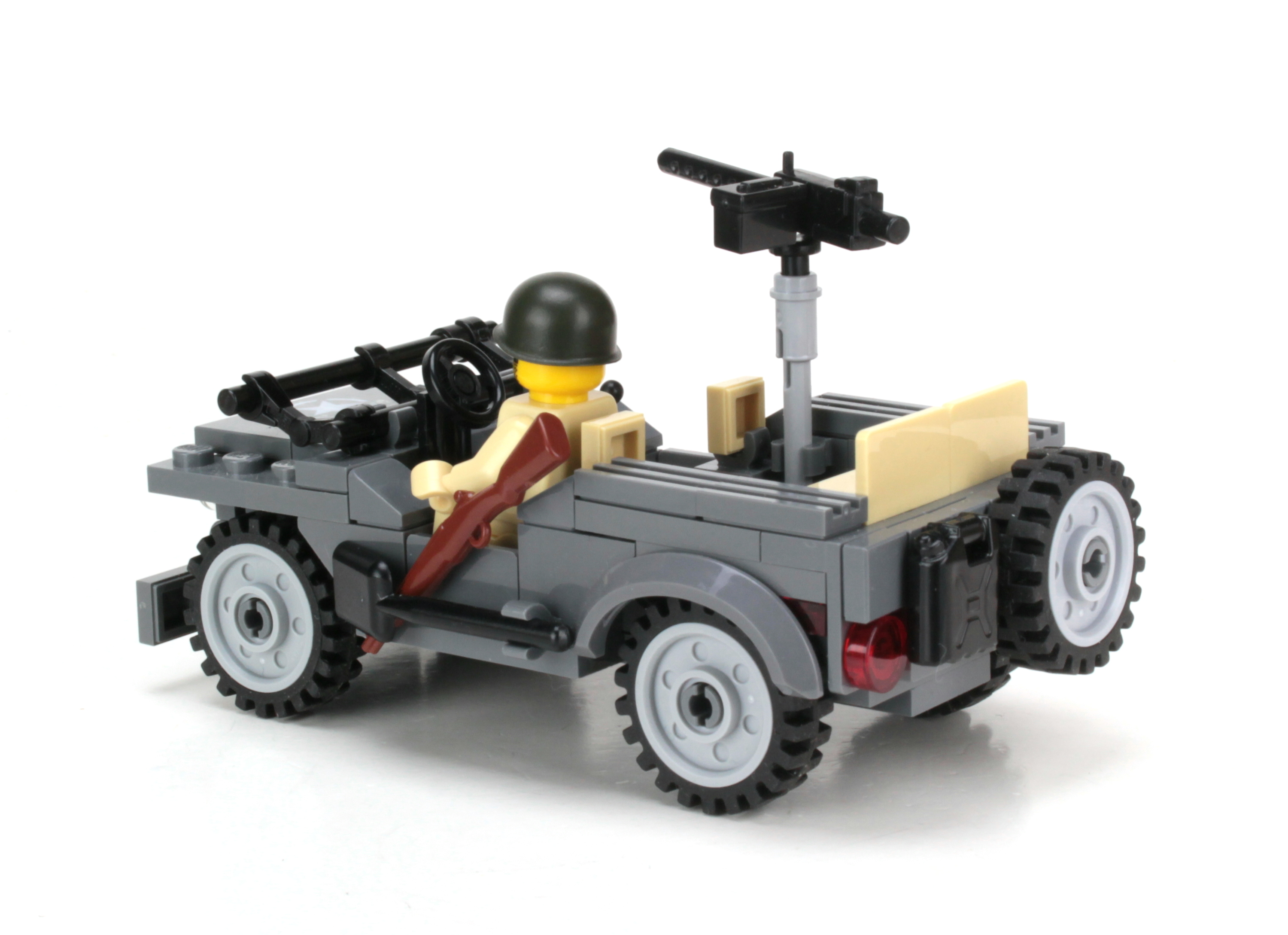 World War 2 American Willy/'s Jeep WW2 w// minifigure made with real LEGO® bricks
