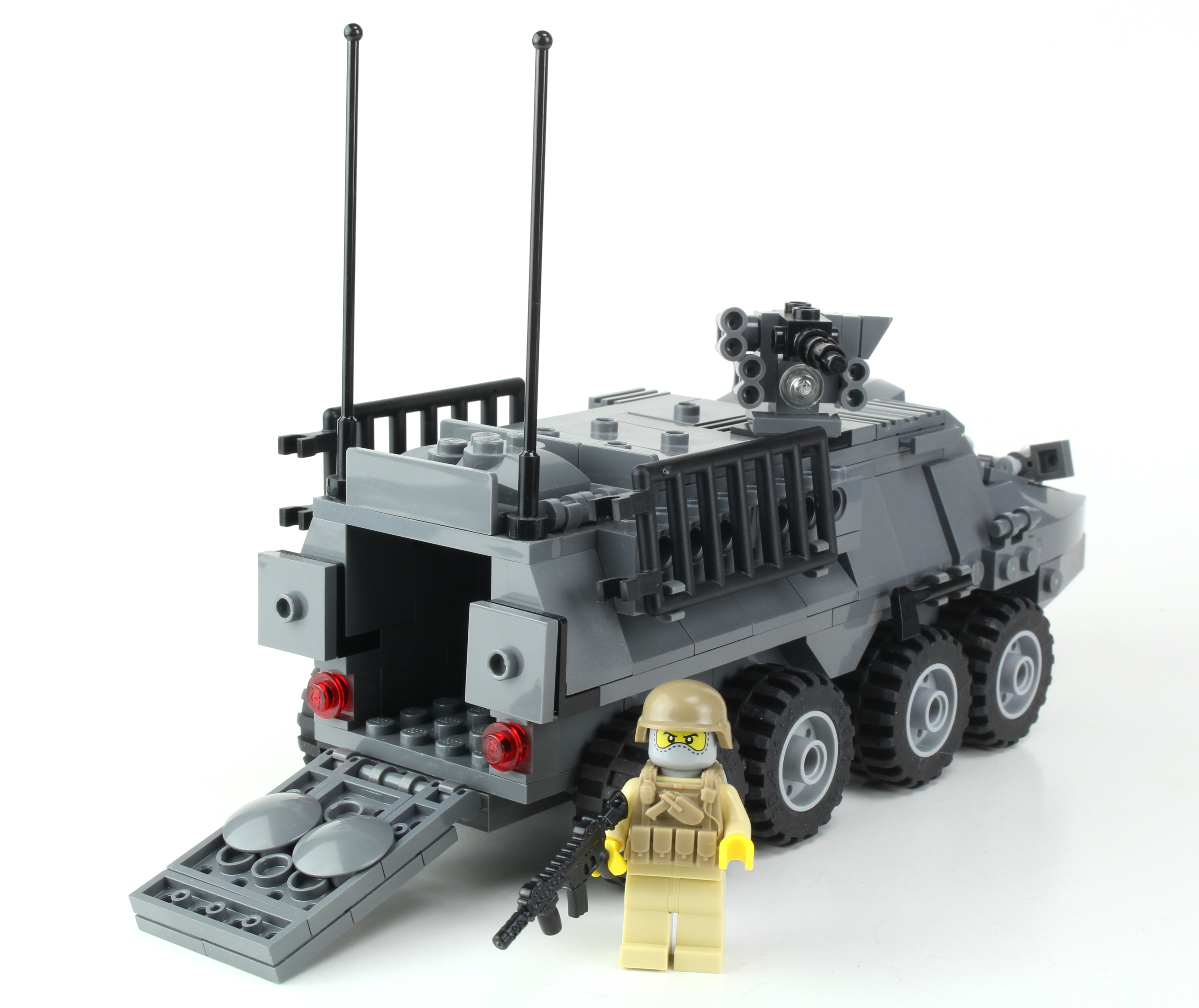 Army Stryker Tank Made With Real Lego Bricks