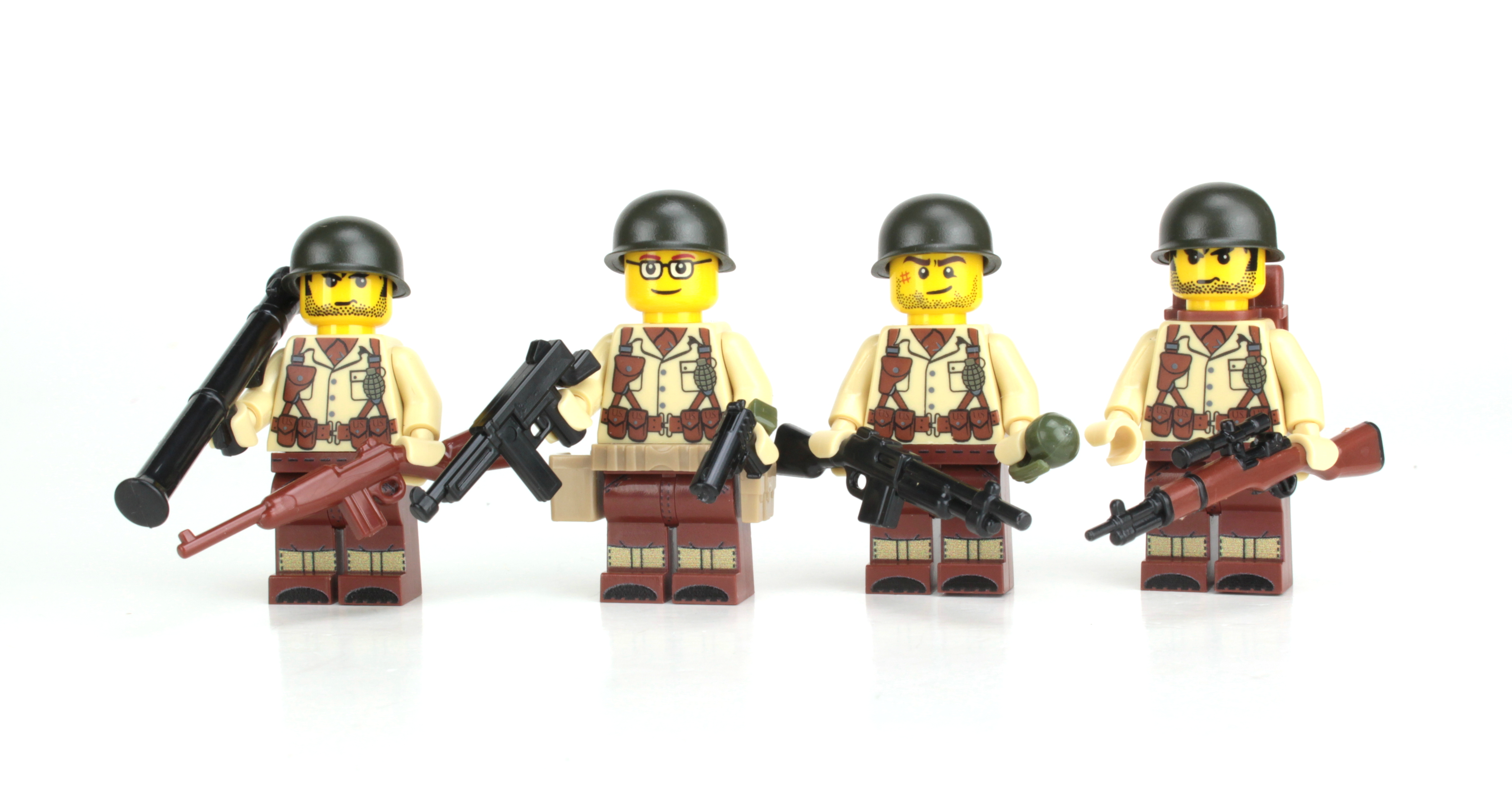 U S  WWII Army Soldiers Complete Squad Minifigures