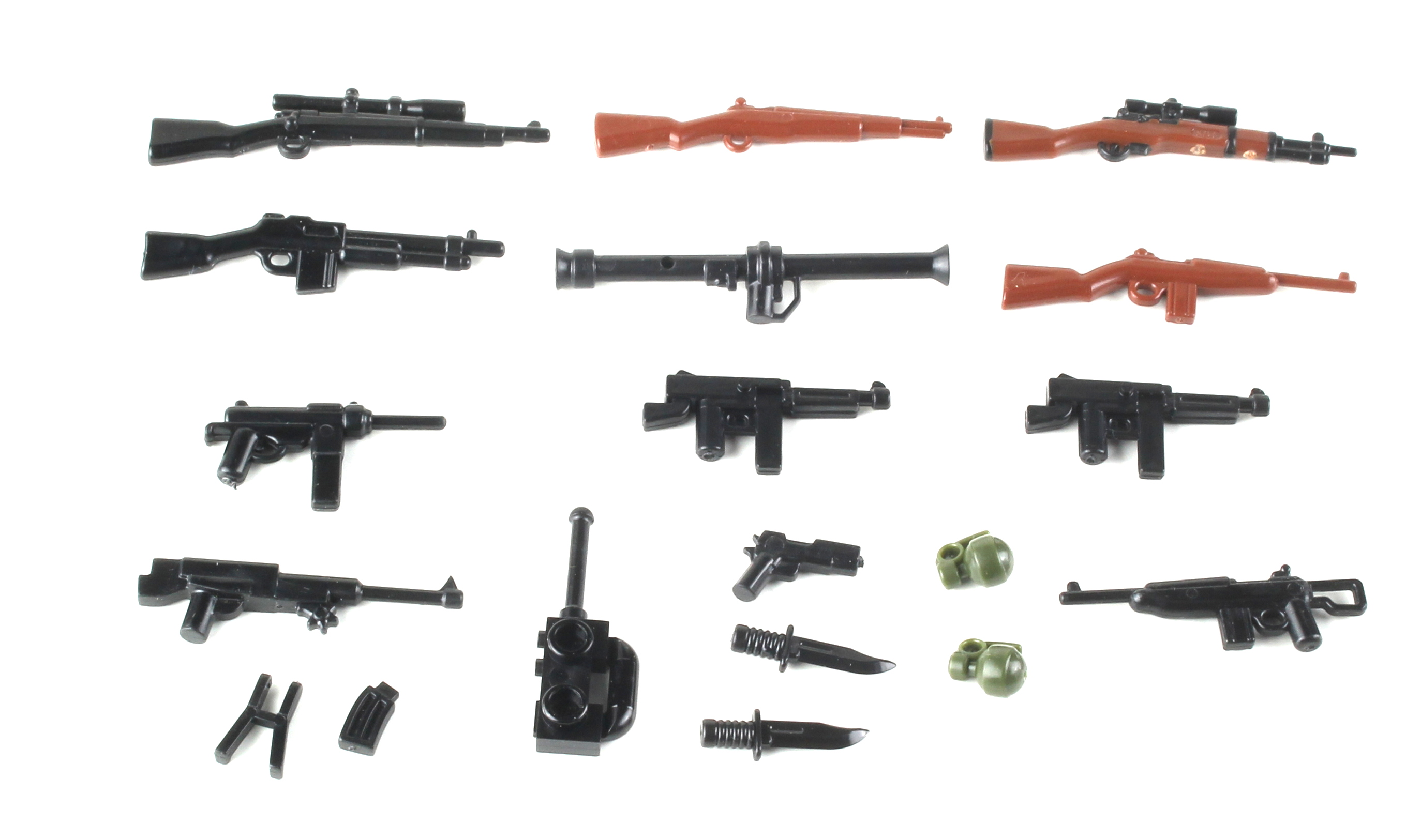 Shotgun Pack Army Weapons Pack 12 gauge compatible w//toy brick minifigures P13