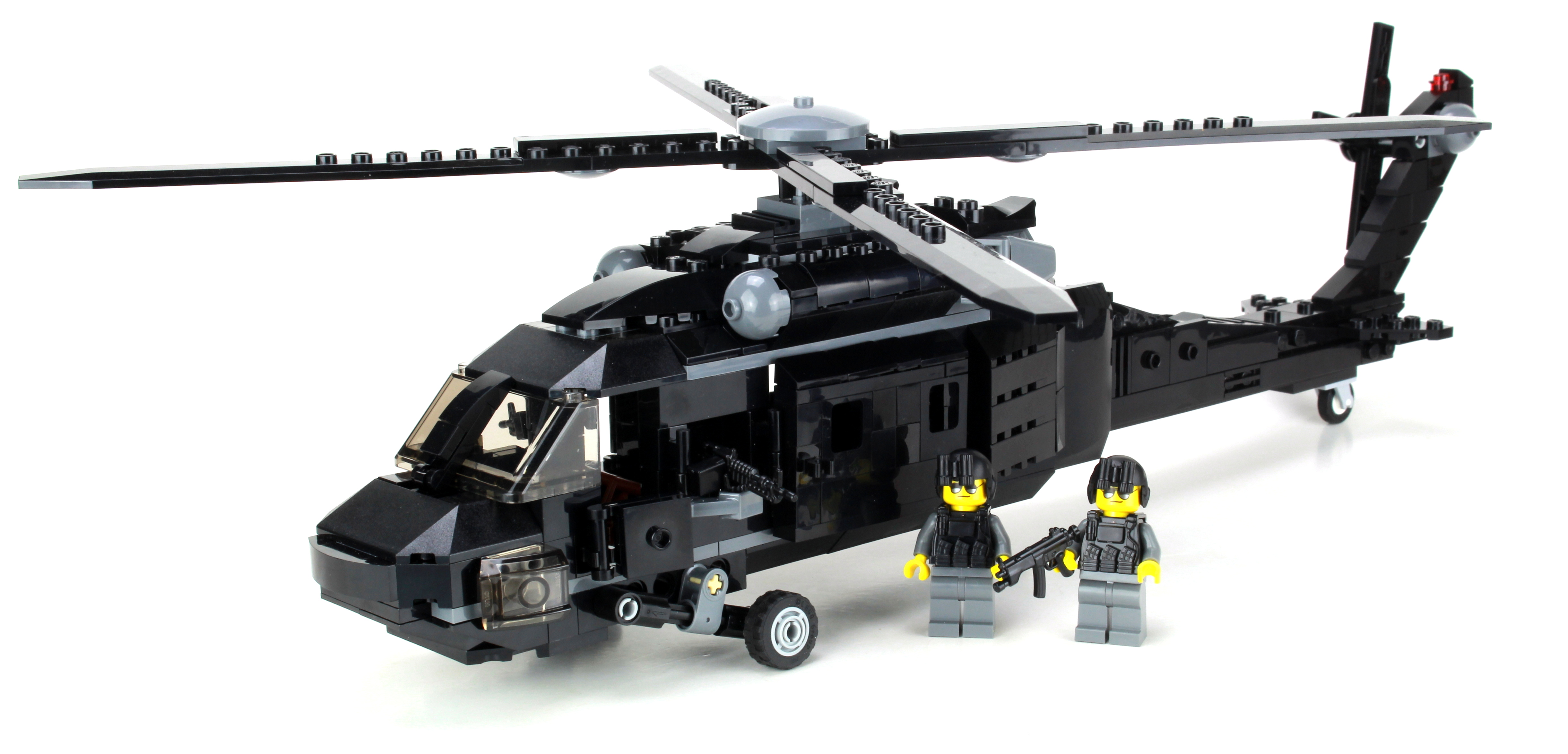 Uh 60 Army Black Hawk Helicopter Made With Real Lego Bricks