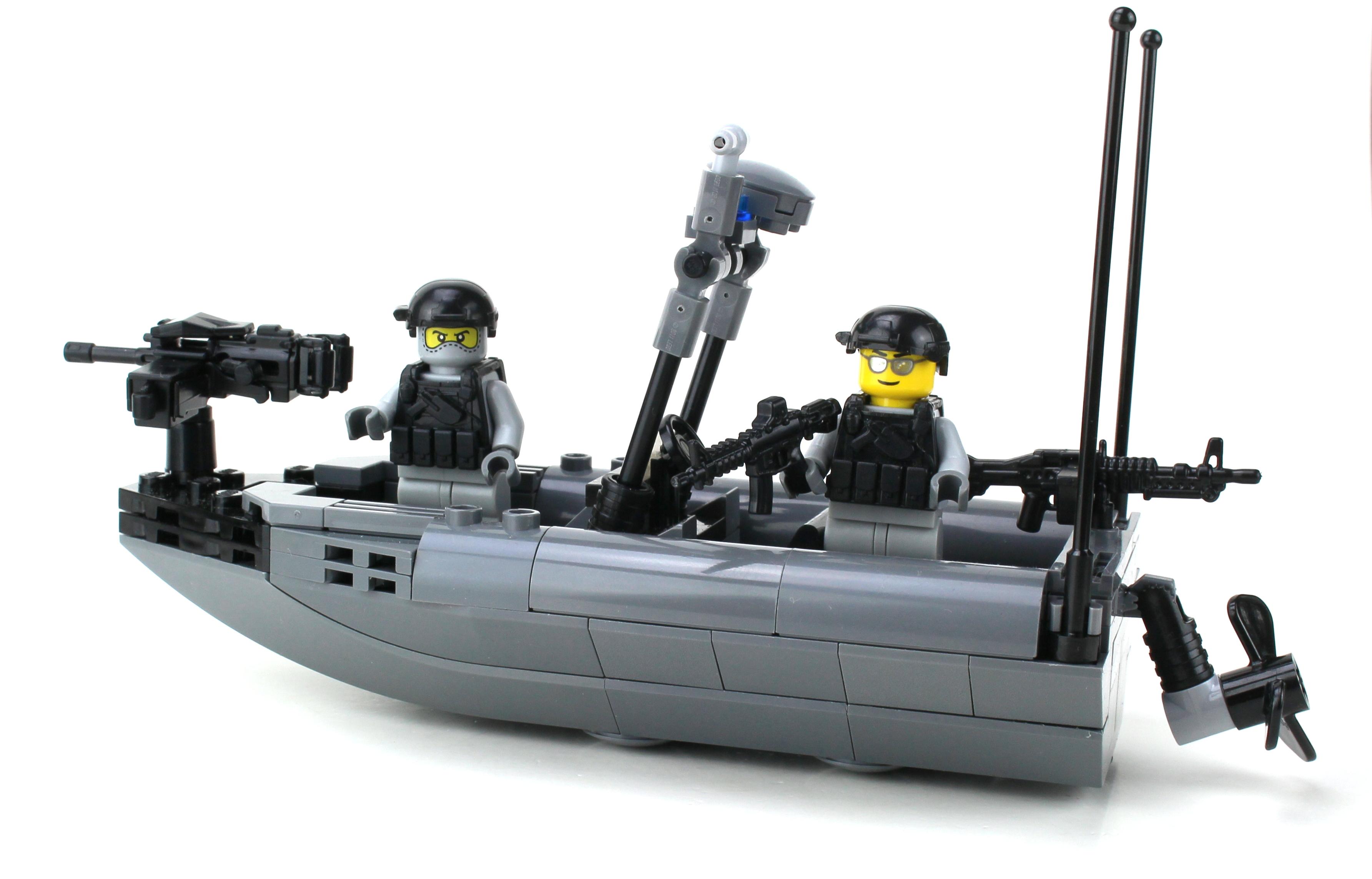 Navy Seal Rhib Attack Boat Made With Real Lego 194 174 Bricks