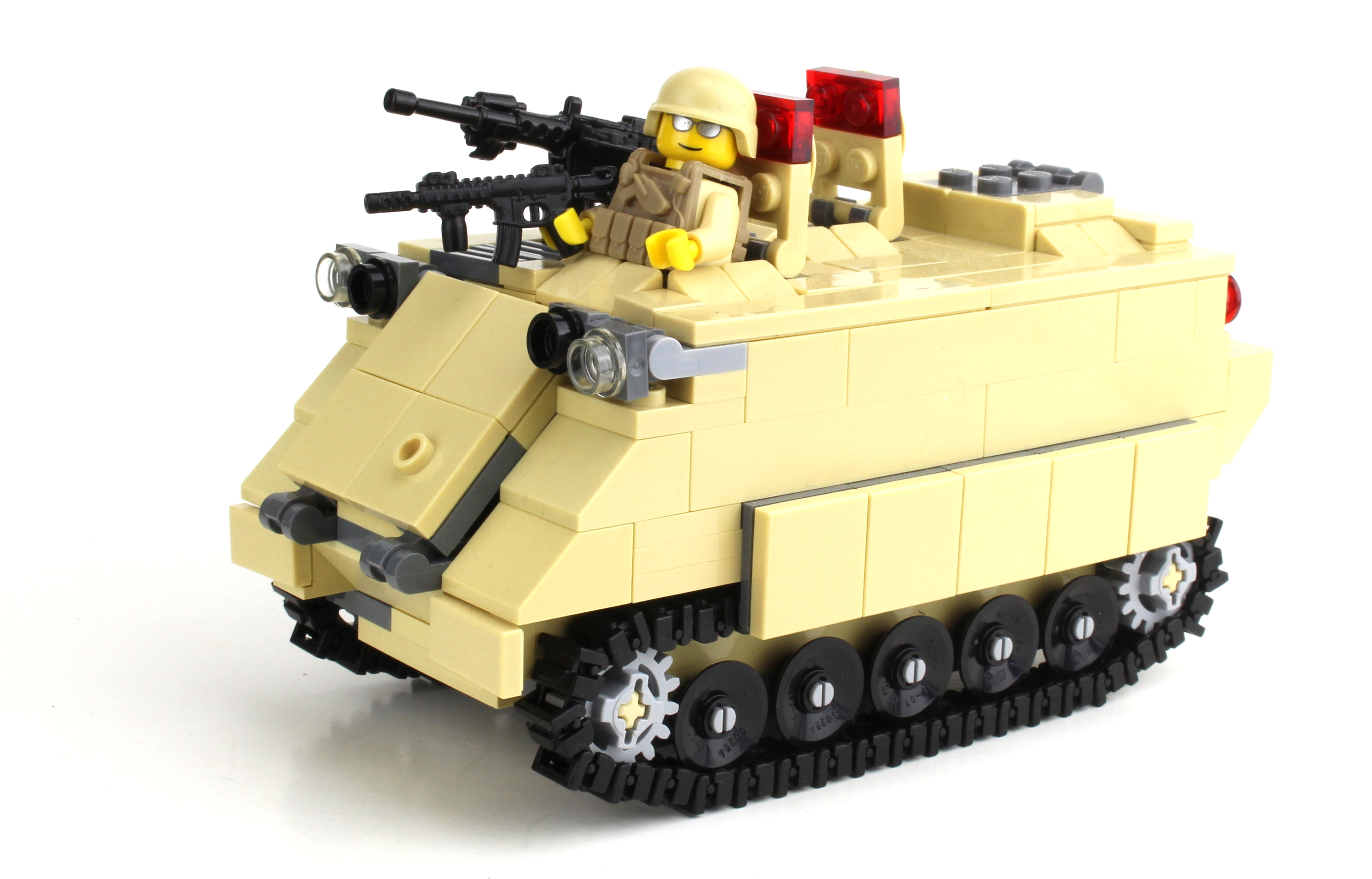 M113 Apc Army Tank Made With Real Lego Bricks
