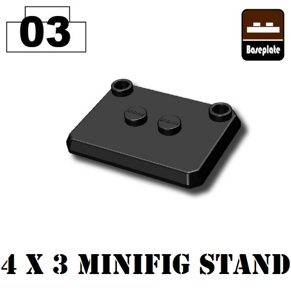 Minifigure Stand 4 x 3