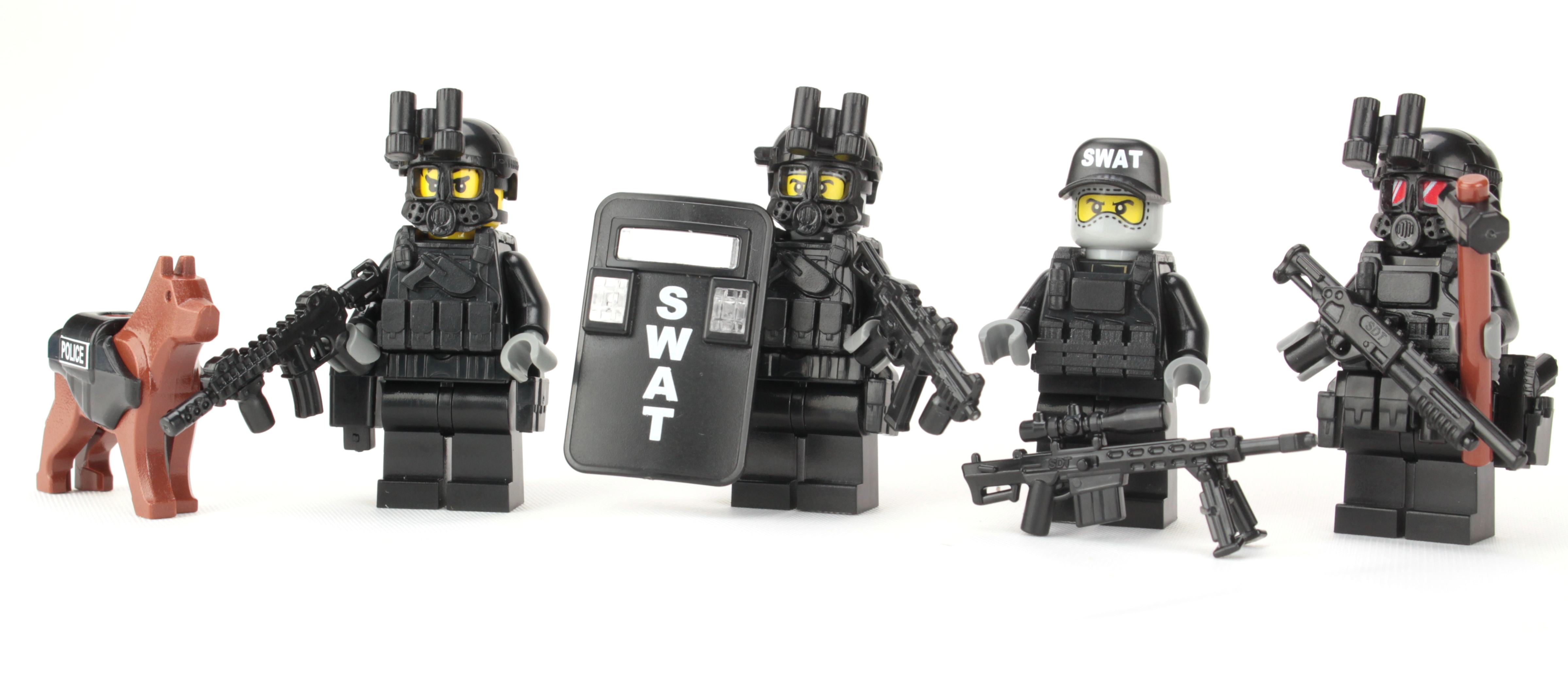 Police Swat Team made with real LEGO® minifigures