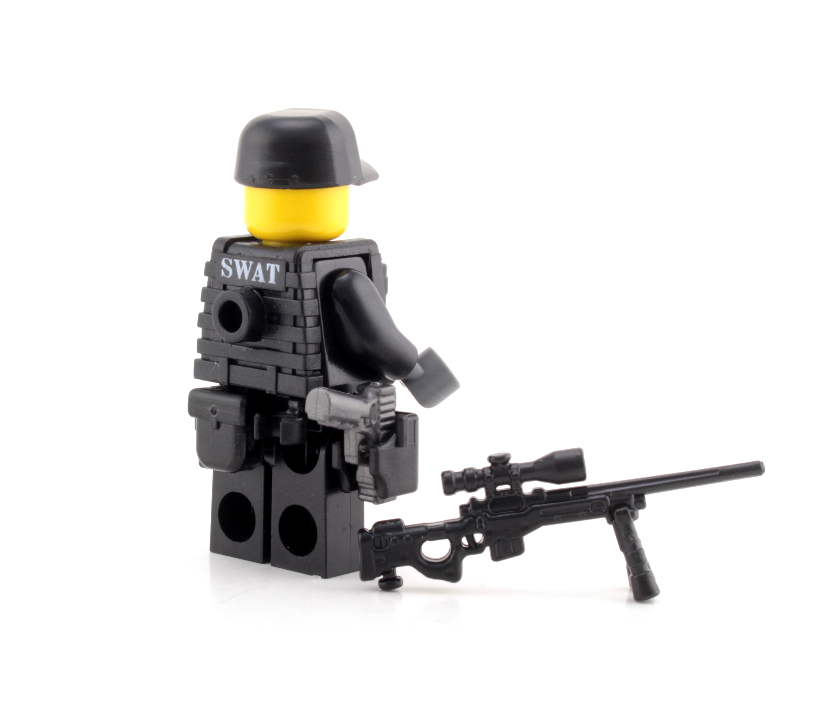 Swat Police Sniper Made With Real Lego Minifigure