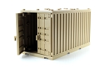 Dark Tan Cargo Shipping Container