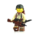 WW2 Single U.S. Army Soldier  M1 Garand Rifle Minifigure
