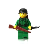 WW2 U.S. Army Soldier With Rifle Minifigure