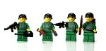 WW2 Us Army Soldiers Complete Squad Minifigures