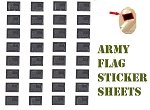US Flag Sticker Decals For Minifigures