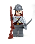 Confederate Army Civil War CSA Soldier Minifigure Soldier Minifigure