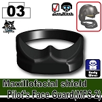 Maxillofacial shield Pilot's Face guard fit HGU56