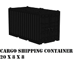 Black Cargo Shipping Container