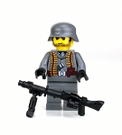 Custom German Ww2 Mg Gunner Minifigure