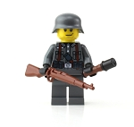 Ww2 German Soldier With Kar98 Minifigure