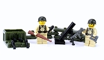 US Army WW2 Mortar Team  Minifigures