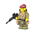 British Paratrooper Battle Brick Custom Minifigure