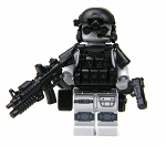Gray Army Special Forces Heavy Assault Commando Minifigure