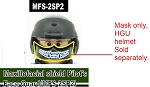 Printed Maxillofacial shield Pilot's Face guard fit HGU56