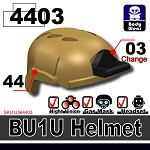 Dark Tan BU1 Tactical Helmet