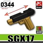 Black and Dark Tan SGX17 Minifig Toy pistol