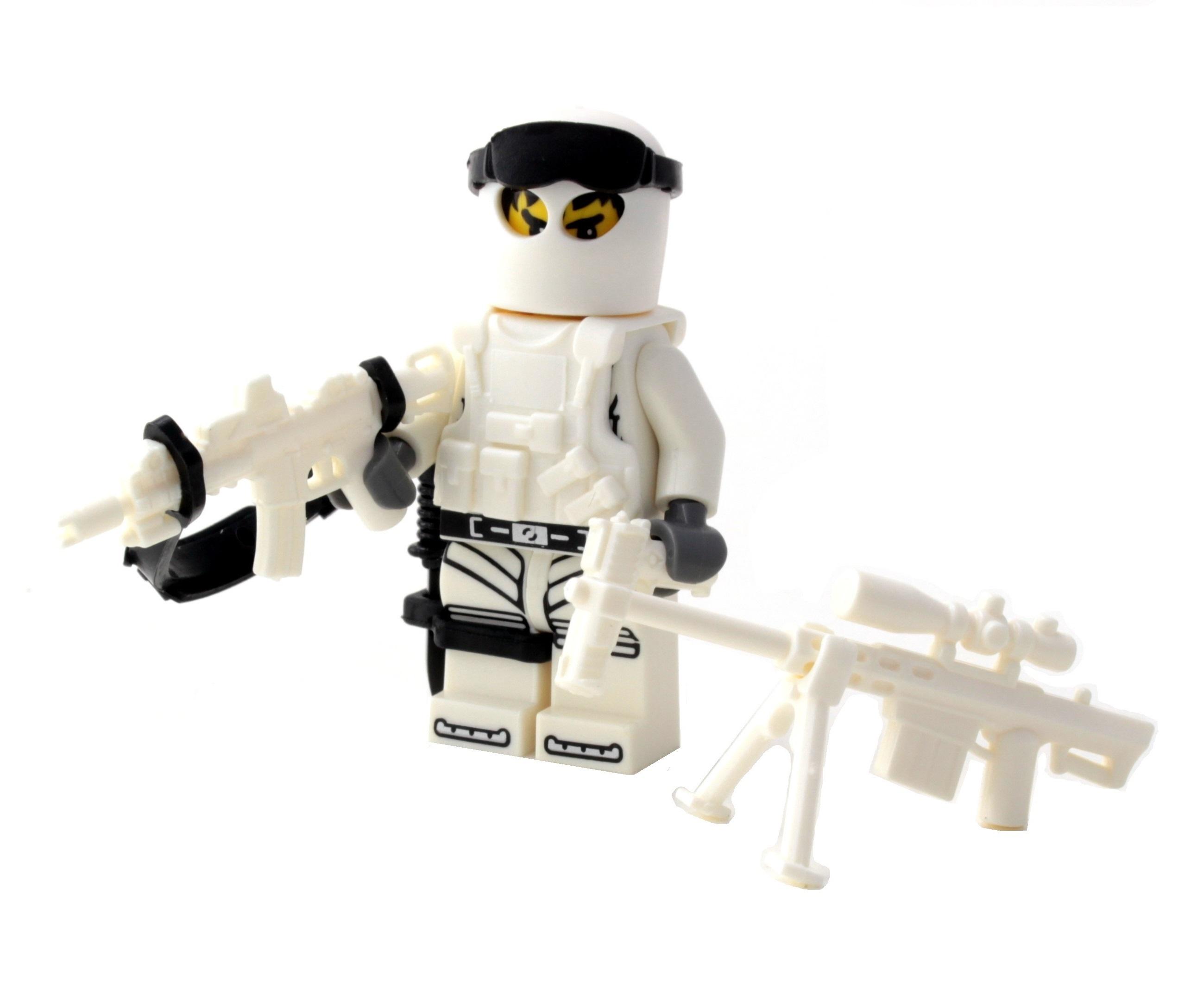 Custom Special Forces Winter Army Commando Minifigure