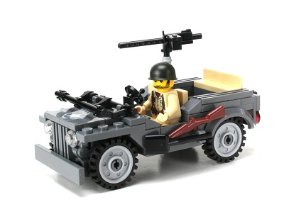 Willys WW2 Jeep Made With Real Lego® Bricks