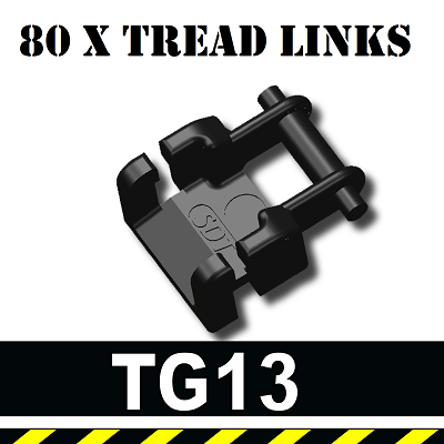 Pack of 80 Small Tank Treads