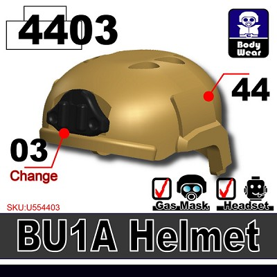 Dark Tan BU2 Tactical Helmet