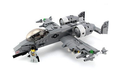 "A-10 ""Warthog"" Thunderbolt Expert Made with real LEGO® Bricks A10"