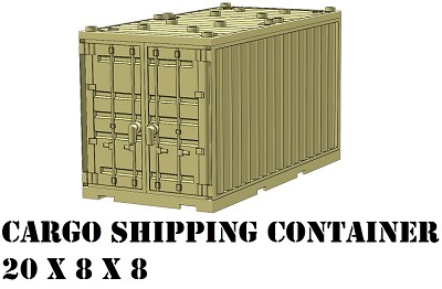 Tan Cargo Shipping Container