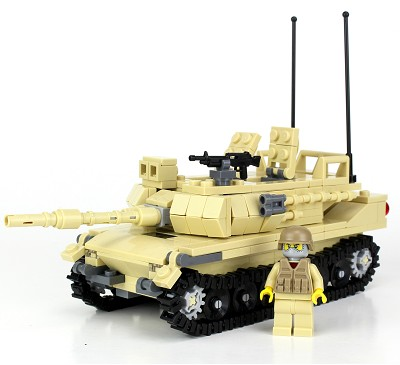 Tan M1 Abrams Main Battle Tank