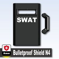 Black Swat Shield With Handle Compatible N4