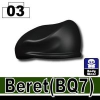 Black Beret Minifigure Hat