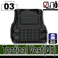 Minifigure Tactical Vest Body Armor Q5 Black
