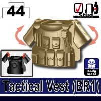 Dark Tan Minifigure Tactical Vest Br1