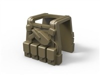 Dark Tan Minifigure Tactical Vest P1